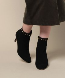 PELLICO/STUDS SHORT BOOTS BACK ZIP(BLACK/8cm)/500567060