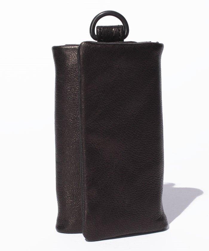Leather key case 'minimal' shine
