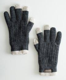 haco!/タッチパネル対応手袋 イタリアンウールグローブ/500589076