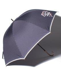 LANVIN en Bleu(umbrella)/婦人長P新合繊ドットプリント/LB0004133