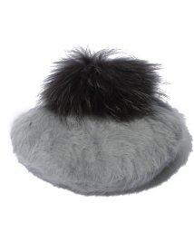 Leilian/ファー付きベレー帽 /10261931N