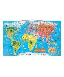 Janod/マグネット・ワールドマップ・パズル/500582860