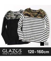 GLAZOS/カモフラ切り替え長袖Tシャツ/500591617