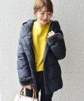 SHIPS WOMEN/【河田フェザー】フードショートダウン◇/500592320