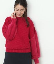 ViS/【sweet12月号掲載】【2WAY】袖フェザーヤーンボトルネックプルオーバー/500592640