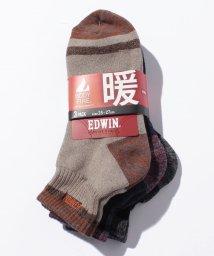 JNSJNM/【EDWIN】BODY FIRE 3足組みクォーターソックス/500544451