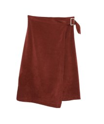Re:EDIT/スエードサイドバックルデザイン巻きスカート/500590549