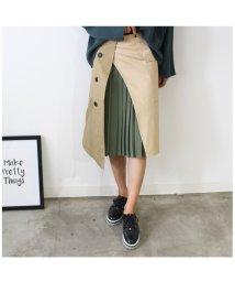 MODE ROBE/トレンチ×プリーツドッキングスカート/500593690