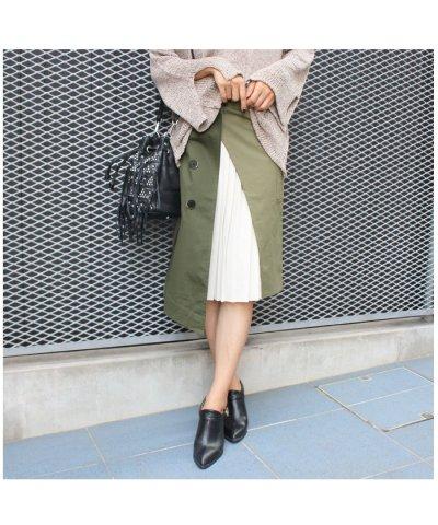 【MODE ROBE(モードローブ)】トレンチ×プリーツドッキングスカート