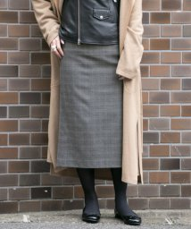 URBAN RESEARCH/【WEB限定】ウールチェックタイトスカート/500594834