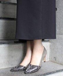 Fin/【低反発スポンジ入り】ポインテッドトゥパンプス/500582694