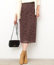 ROPE' mademoiselle/キモウフラワーレースタイトスカート/500590428