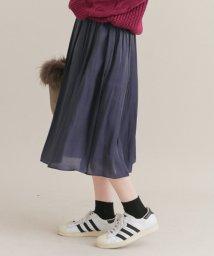 URBAN RESEARCH Sonny Label/【予約】シャイニーサテンギャザースカート/500594863