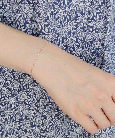 【VA VENDOME AOYAMA(ヴイエーヴァンドームアオヤマ)】K18PG ダイヤモンド ブレスレット