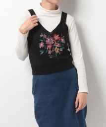 NICE CLAUP OUTLET/【every very nice claup】刺繍ニットビスチェ/500569604