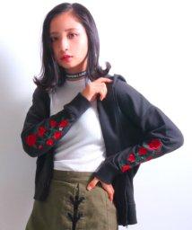 ANAP GiRL/袖薔薇刺繍パーカー/500585259