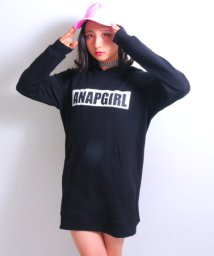 ANAP GiRL/袖チュールラインBOXロゴワンピース/500585260
