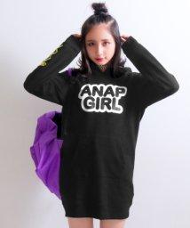 ANAP GiRL/袖スピンドルフーディーワンピース/500585261