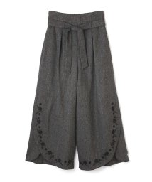 PROPORTION BODY DRESSING/《BLANCHIC》ツィード刺繍ワイドパンツ/500586333