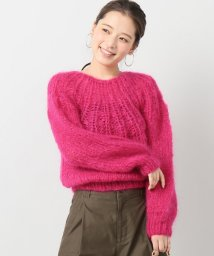 IENA/Maiami Mohair Pleated ニット(レッド)/500598266