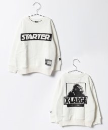 XLARGE KIDS/STARTERコラボボックスロゴ裏毛トレーナー/500589690