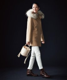 JIYU-KU /【マガジン掲載】ファー付き カシミヤミックスウールコート(検索番号U19)/500598922