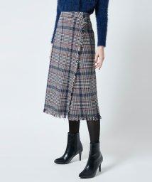 titivate/チェックツイードラップ風スカート/500599315