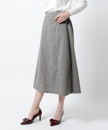 titivate/グレンチェックAラインミディアムスカート/500601506