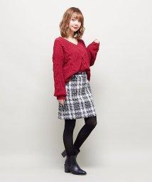 INGNI/ベルト付ツイード台形/スカート/500592577