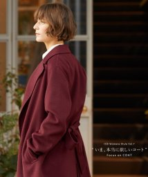 ICB(LARGE SIZE)/Wool Rever コート/500603456