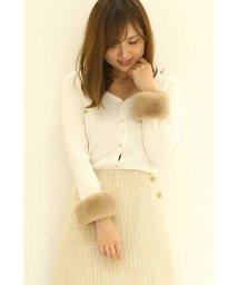 PROPORTION BODY DRESSING/【CanCam 1月号掲載】ファーカフスVニットカーディガン/500603477