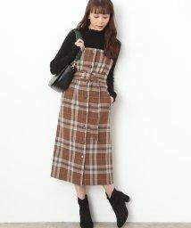 ViS/ベルト付きチェック柄ジャンパースカート/500603639