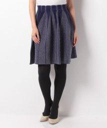 LANVIN en Bleu/ヘリンボーンジャガードスカート/LB0004483
