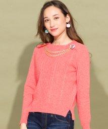 en recre/【カタログ】【Pridia】ビジューモチーフ付きセーター  /10262252N