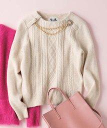 en recre/ビジューモチーフ付きセーター  /10262252N