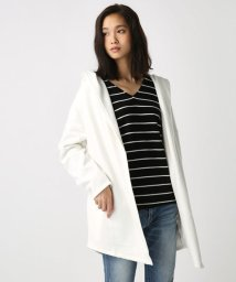 AZUL by moussy/裏毛裏ボアショールトッパー/500587243