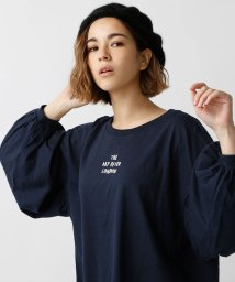 AZUL by moussy/ロゴボリュームスリーブ長袖プルオーバー/500587260
