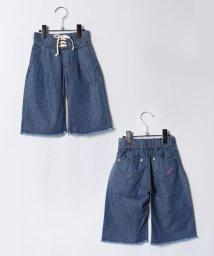 X-girl Stages/ハートポケット レースアップ ワイドデニムロングパンツ/500595911