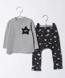 X-girl Stages/スターポケット長袖Tシャツ&スペース総柄モンキーパンツセット/500595916