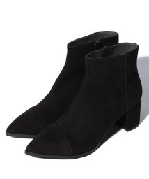 INTER-CHAUSSURES IMPORT/【ABOVE AND BEYOND】ミドルヒールポインテッドショートブーツ/500589281