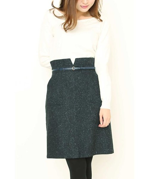 PROPORTION BODY DRESSING(プロポーション ボディドレッシング)/ネップツィードタイトスカート/1218120002