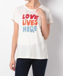 LEVI'S LADY/SLIM CREW NECK TEE LOVE LIVES HERE MARHS/500599577
