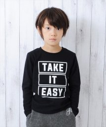 GLAZOS/厚手天竺TAKE IT EASY長袖Tシャツ/500612066