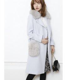JUSGLITTY/【追加生産・組成違い】衿ファー付きポケットファーコート/500602282
