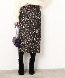 ROPE' mademoiselle/レオパードジャガードタイトスカート/500615031