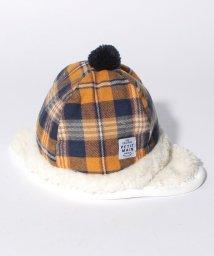 petit main/BABYチェックフリースボア帽/500606377