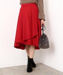 ROPE' mademoiselle/ストレッチボタニータックフレアスカート/500612048