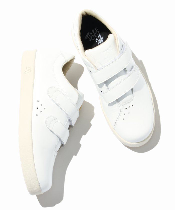 ARETH/ アース: I velcro / White Leather