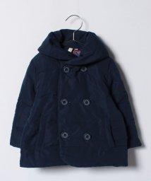LAGOM/ポリピーチ中綿ショール衿ジャケット/500599676