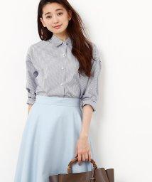 ROPE'/カフス刺繍入りストライプシャツ/500488668